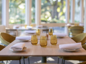 New furniture in Botanic Gardens Restaurant