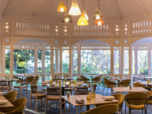 The beautiful interior at Botanic Gardens Restaurant in Adelaide, South Australia