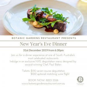 New Year's Eve Dinner at Botanic Gardens Restaurant